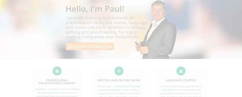 Sneak preview of Paul's new site